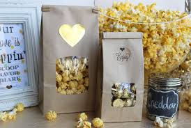 popcorn favor bags kraft brown tin tie bags one half pound bakers bling