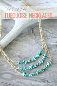 diy necklace images Diy simple turquoise necklaces the crafted sparrow jpg