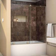 Home Depot Bathtub Doors Semi Frameless Shower Doors Showers The Home Depot