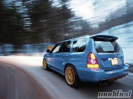 blue subaru gold rims 2007 subaru impreza forester fanatic modified magazine