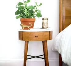 Small Round Pedestal Side Table Penelope Nightstand Ndash Acorn Bedside Table Small Pedestal Side