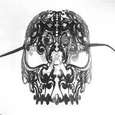 black and white masquerade mask 2017 black white skull venetian filigree metal mask masquerade