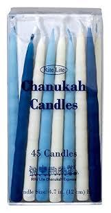 rite lite chanukah candles rite lite judaica deluxe blue white 4 7 inch