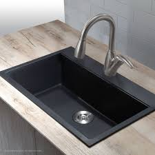 How To Install Faucet In Kitchen Sink Granite Kitchen Sinks Kraususa Com