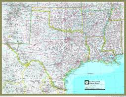 map us south south central united states atlas wall map maps