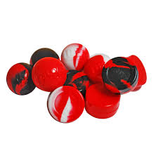 different reds 25 x non stick silicone balls and jars for bho handling