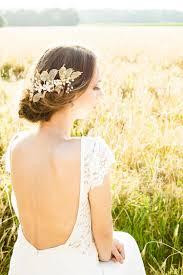 gold headpiece gold leaves wedding headpiece vivienne