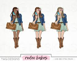 fashion clip art watercolor clipart png country chic