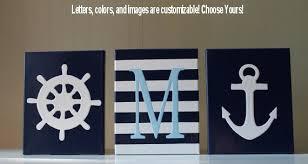 Sailboat Decor For Nursery Nautical Nursery Decor Painting Sailboat Anchor Personalized