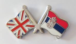 Flag Of Serbia Serbia State And United Kingdom Friendship Flag Badge T4054