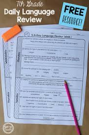 a free daily language review for 7th grade review important
