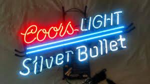 vintage coors light neon sign vintage coors light silver bullet neon sign ebay