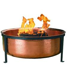 Copper Firepits Cobraco Sh101 Hammered 100 Copper Pit With