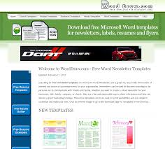 learning never stops word draw free newsletter templates for ms