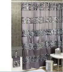 Silver Shower Curtains Sequin Luxury Black Voile Eyelet Curtain Panel Black Sequins