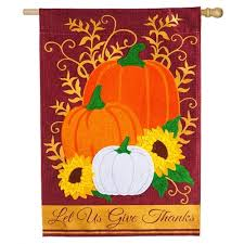 thanksgiving house flags let us give thanks burlap thanksgiving house flag fall house