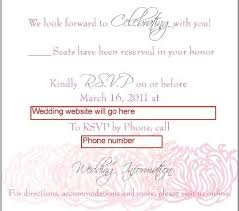 Free Online Wedding Invitations Free Online Invitations With Rsvp Template Resume Builder