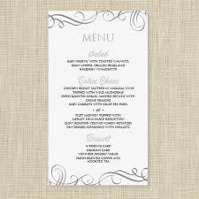 wedding menu templates wedding menu card template instantly edit yourself