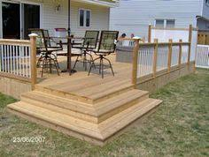 Small Backyard Deck Patio Ideas Like For Front Of Our House The Steps Look Similar To Our Back