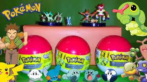 3 pokemon surprise eggs unboxing animation giant surprise egg