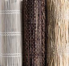 our bamboo grass material collection for woven wood shades