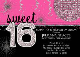 sweet sixteen invitations sweet 16 invitation templates with