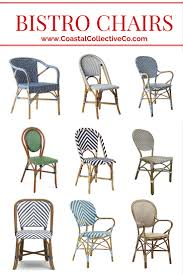 where to find the best woven bistro chairs u2014 coastal collective co