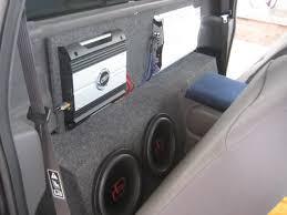 dodge ram center console sub box small regular single cab sub placement car audio