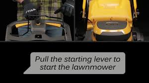 battery powered lawn mower how to start the lawn mower stiga