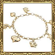 charm bracelet charms white gold images Types of gold charm bracelet jpg