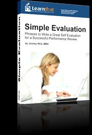 self evaluation template i performance reviews