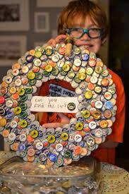 25 best bottlecap wreath images on pinterest bottle cap art