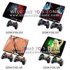 ps3 design free shipping for ps3 slim skin stickers decal with two controller