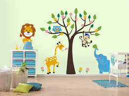 Wall Decals For Boys Alphabet Wall Decals For Playroom Safari Animals Tree Decal