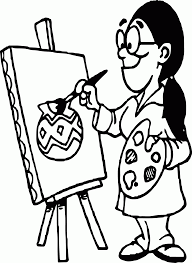 image artist tools art coloring page wecoloringpage coloring home