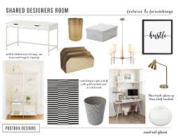 how to create a neutral but glam home office postbox designs