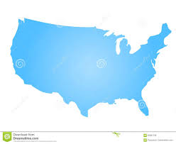 Map Of United State Of America by Blue Radial Gradient Silhouette Map Of United States Of America