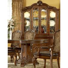 a r t furniture old world china cabinet cathedral cherry