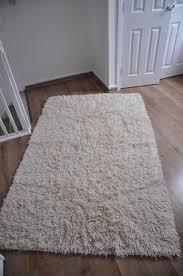 ikea vitten rug high pile white handmade white 100 wool 140x200