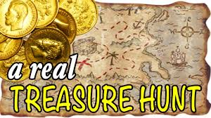 treasure map for gold with a treasure map