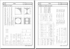fläche kreis mathematik geometrie arbeitsblatt kreis 06 aufgaben zur