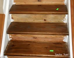 what stain looks on pine staining pine stair treads tempting thyme