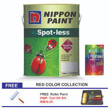 nippon paint spotless 5l red color series 11street malaysia