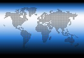 Blue World Map by Digital World Map Free Photos 1170292 Freeimages Com