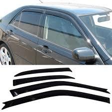 lexus is250 jdm window visor amazon com fit 01 05 lexus is300 4 door sun window visor dark