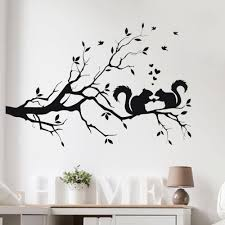 popular wall stickers kids branche buy cheap wall stickers kids wall stickers squirrel on long tree branch wall sticker animals cats art decal kids room decor