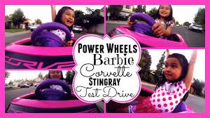 barbie power wheels power wheels barbie corvette stingray test drive youtube