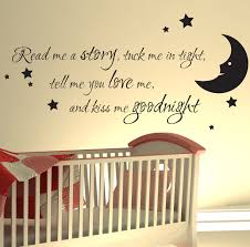 Nursery Stickers Nursery Wall Sticker Read Me A Story Kids Art Decals Quotes W47