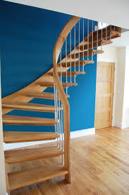 bespoke timber staircase with floating oak treads click to view