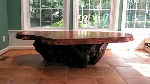 Rustic Kitchen Tables Burl Slabs Live Edge Wood Redwood Burl Inc